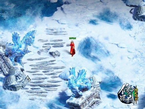 冰雪覆盖的神族主城