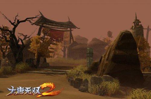《大唐无双2》游戏内敦煌鸣沙山场景