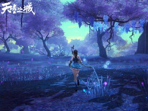 充满梦幻色彩的灵玉森林是隐藏任务的较高触发地。