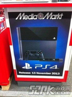 国外零售商店曝PS4将于11月13日发售
