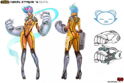 《英雄联盟》英雄模型设计稿原画赏 画风如此不同