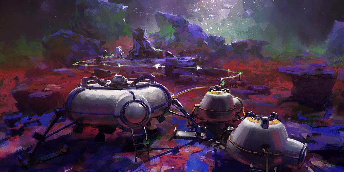 太空冒险游戏《异星探险家》将发售 艺术原画曝光