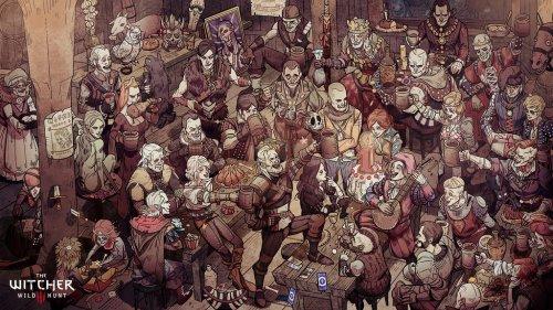 《巫师3:狂猎》发售周年庆 CDPR发布趣味贺图