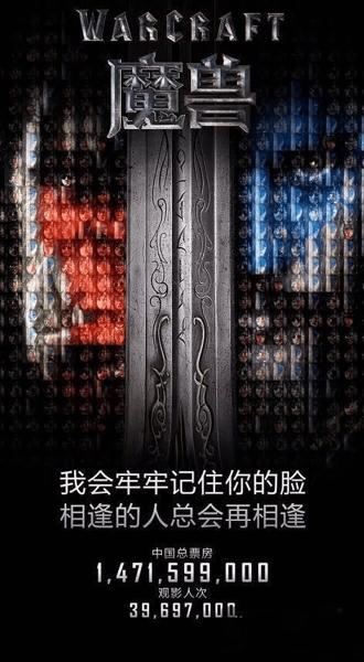 《魔兽世界》电影中国票房未过15亿 电影正式下架