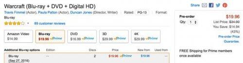 《魔兽》电影九月发售 影片时长竟达四小时!