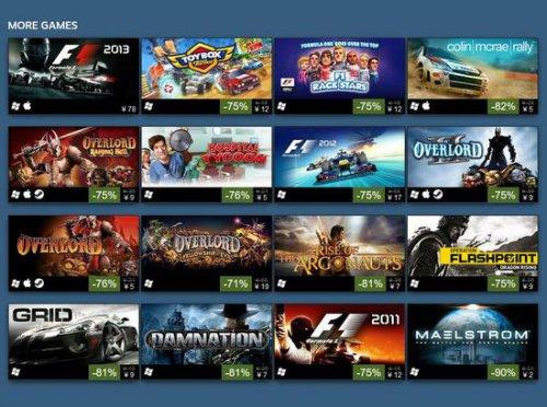 周末大狂欢 Steam上CodeMasters多款游戏低至1折
