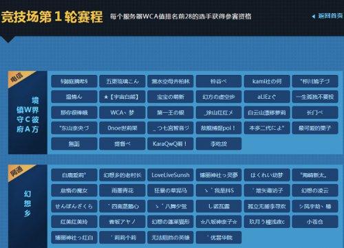 """《300英雄》WCA联赛第一轮""""WCA""""值榜排名出炉"""