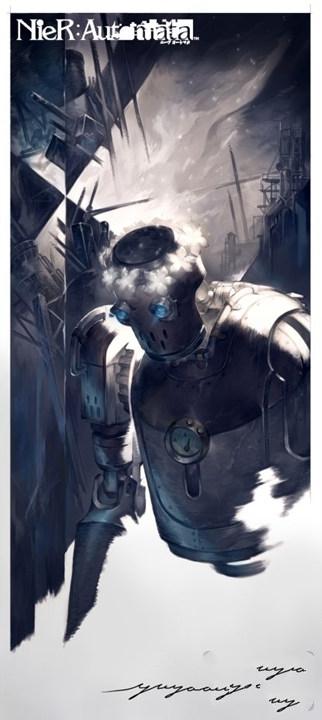 《尼尔:机械纪元》设计师分享角色艺术图