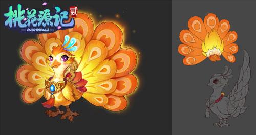 《桃花源记2》鸡年新神兽线稿
