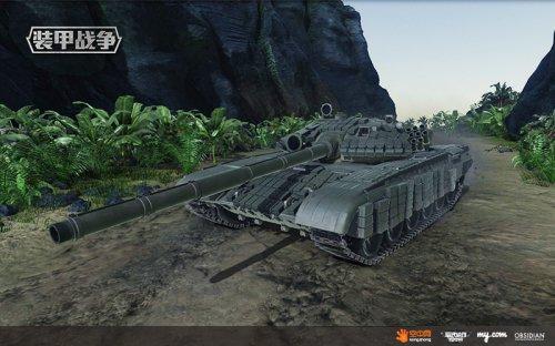 满身反应装甲全副武装的T-72主战坦克