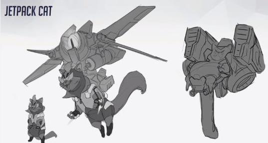 《守望先锋》被取消动物英雄曝光 开机甲的火箭猫